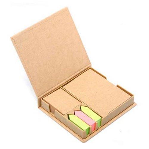 Bloco de Anotações em Papel Reciclado com Post-it