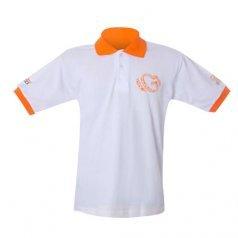 Camiseta Polo Branca Personalizada